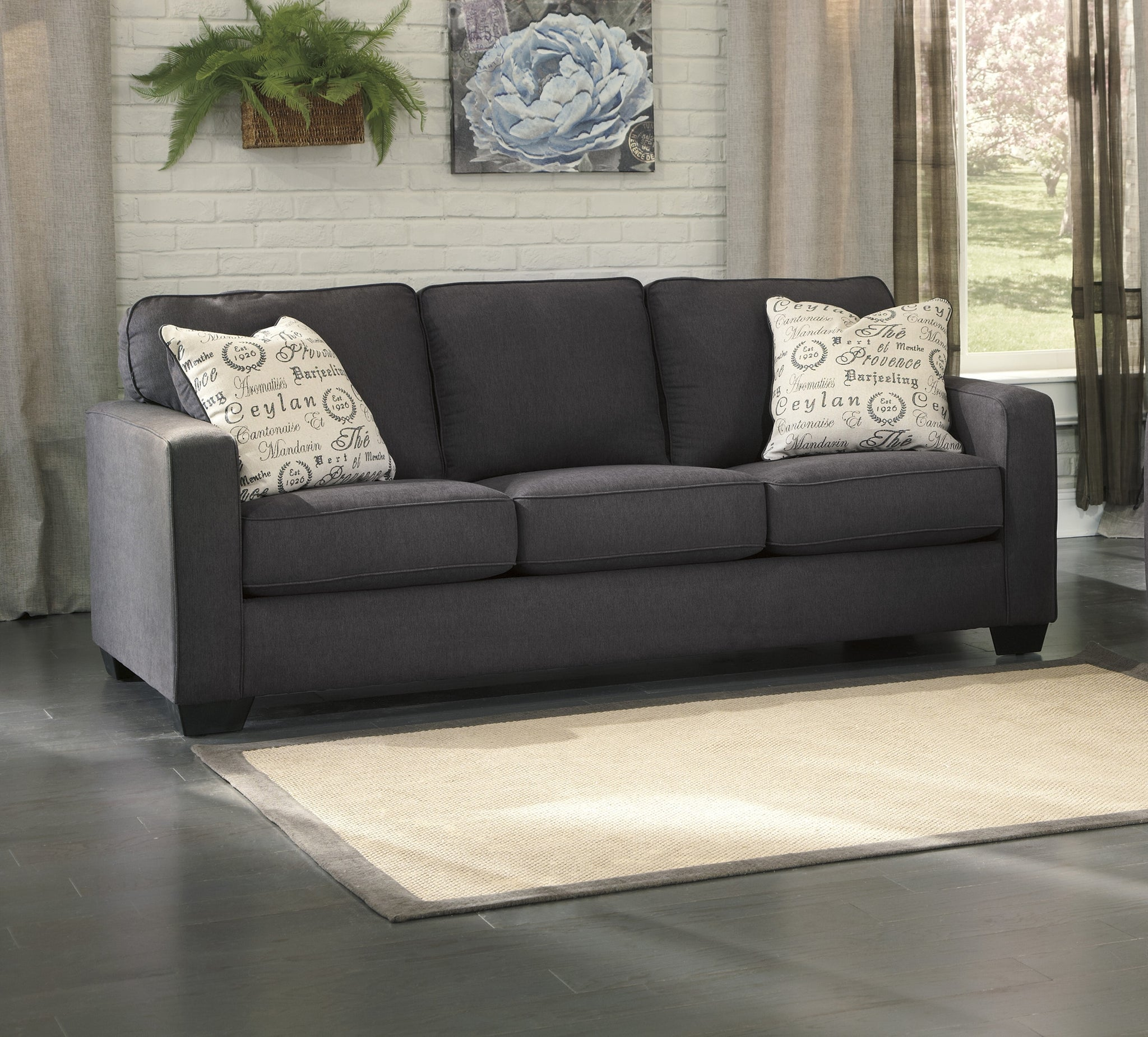 Astonishing Alenya Charcoal Queen Sofa Sleeper Flatfair Ncnpc Chair Design For Home Ncnpcorg