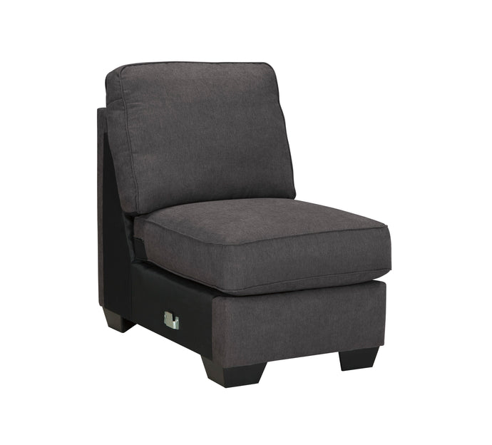 Signature Design By Ashley 1660146 Alenya Charcoal Armless Chair