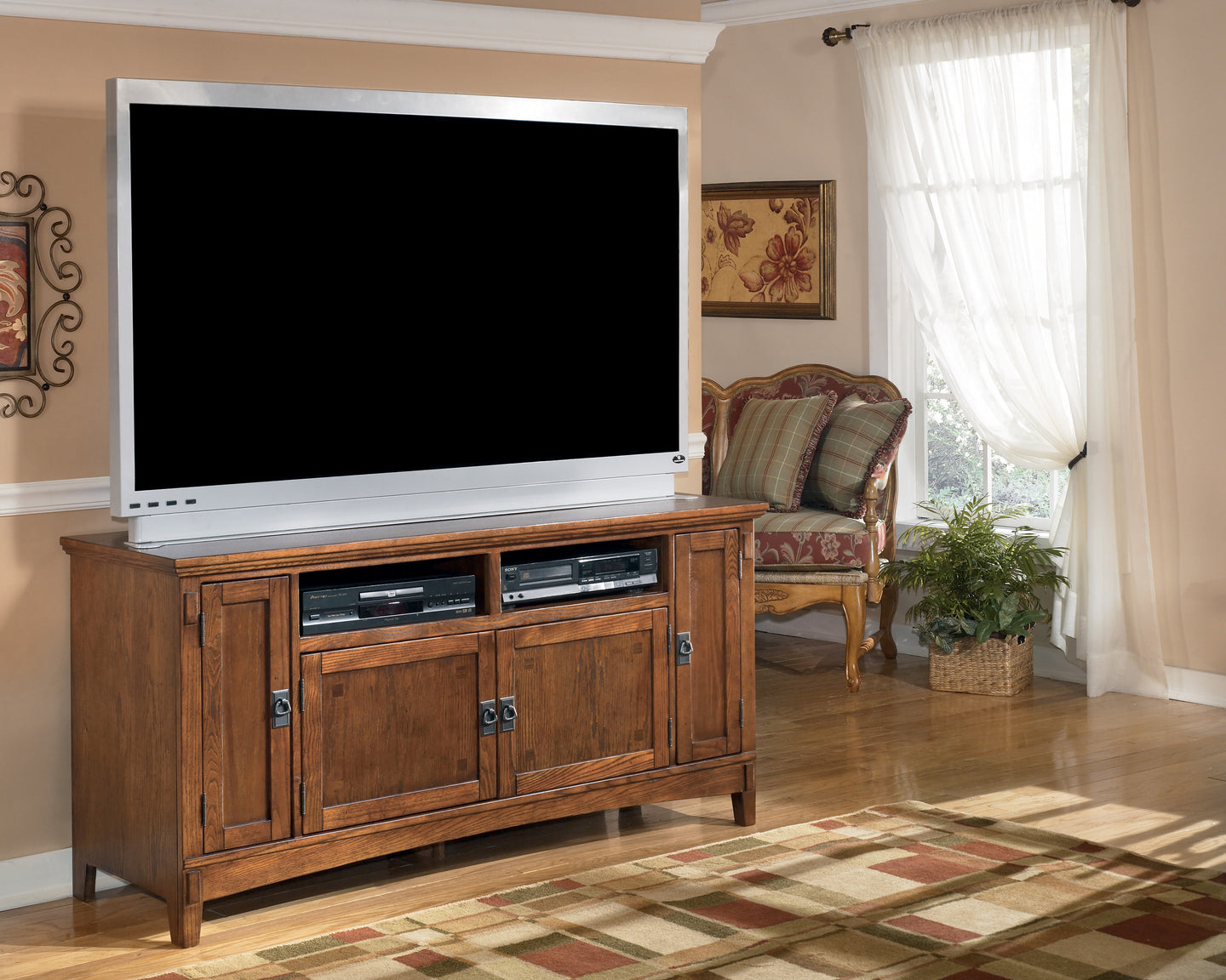Signature Design by Ashley Cross Island Medium Brown Large TV Stand