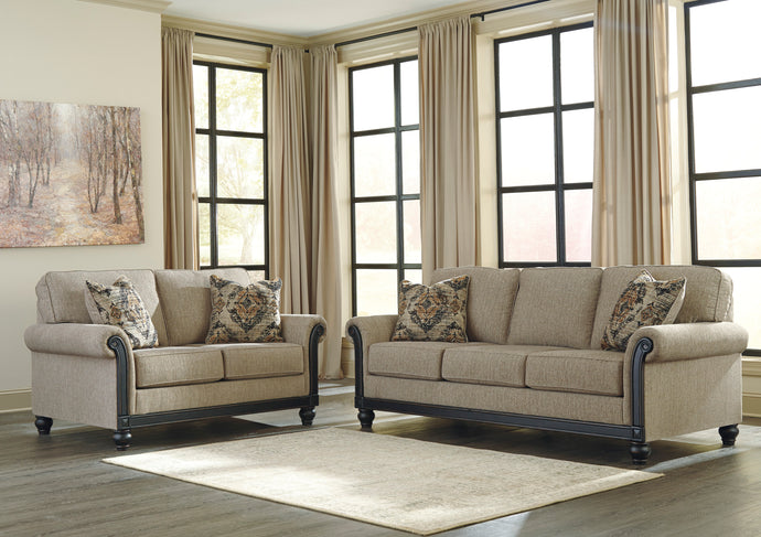 Signature Design by Ashley Blackwood Taupe 2 Piece Sofa and Loveseat