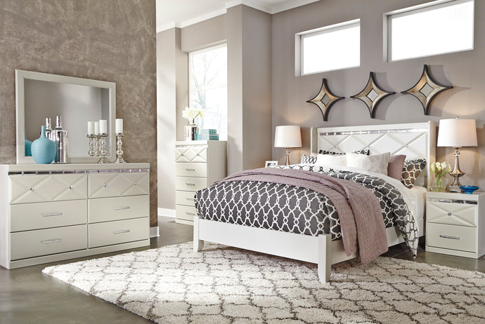 Ashley Dreamur Champagne 5 Piece Full Panel Bedroom Set