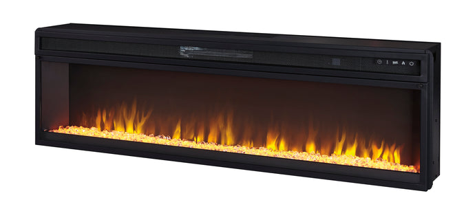 Signature Design Entertainment Accessories Black Wide Fireplace Insert
