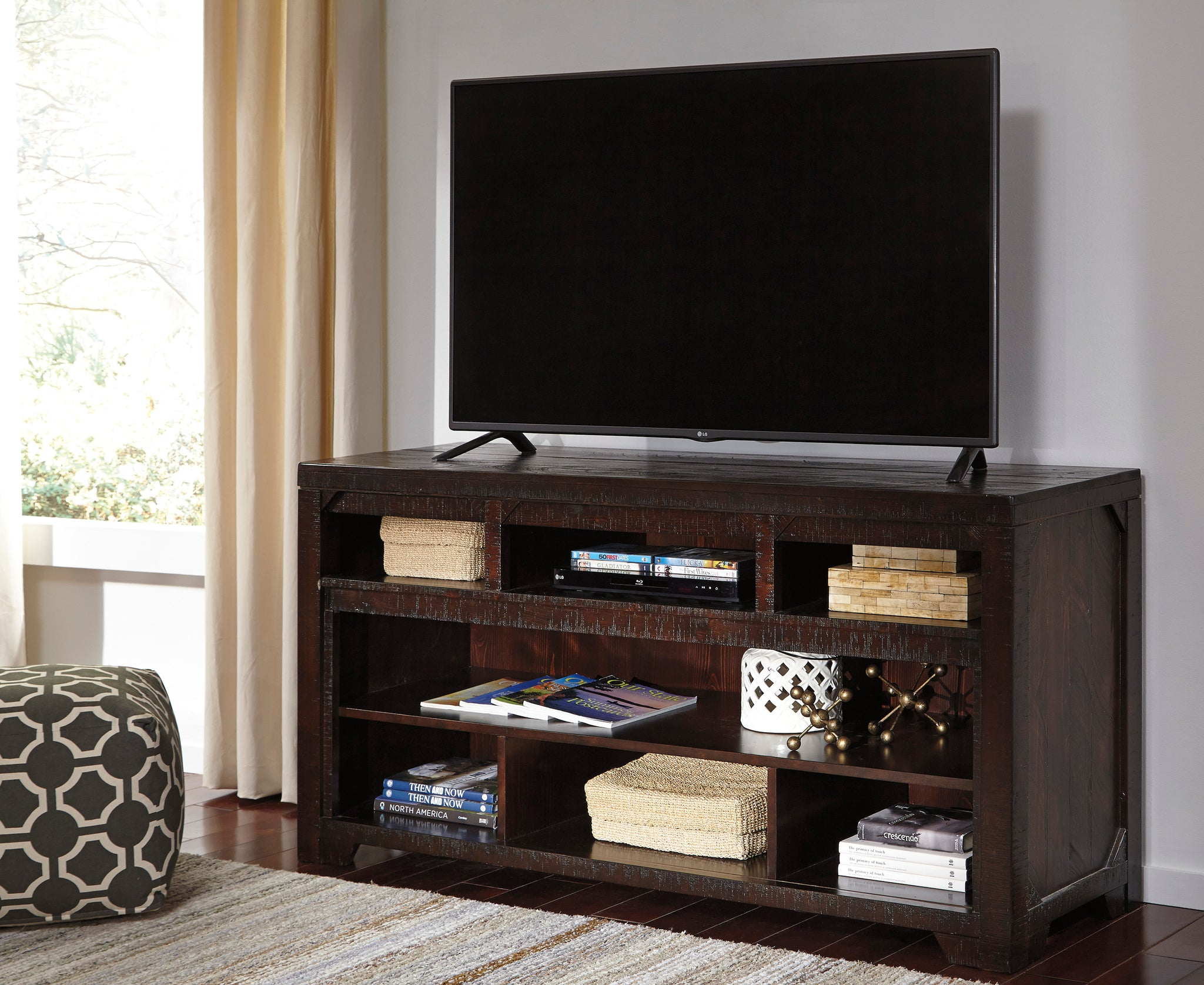 Signature Design By Ashley Rogness Dark Brown Lg Tv Stand