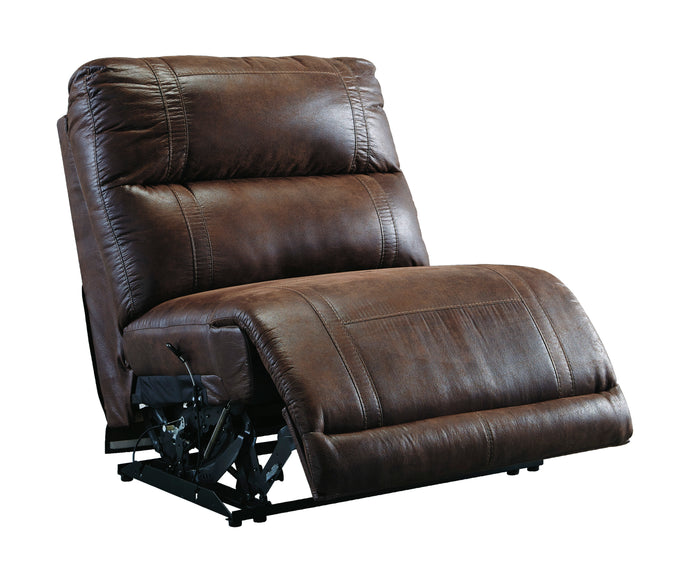 Signature Design by Ashley Luttrell Espresso Armless Recliner