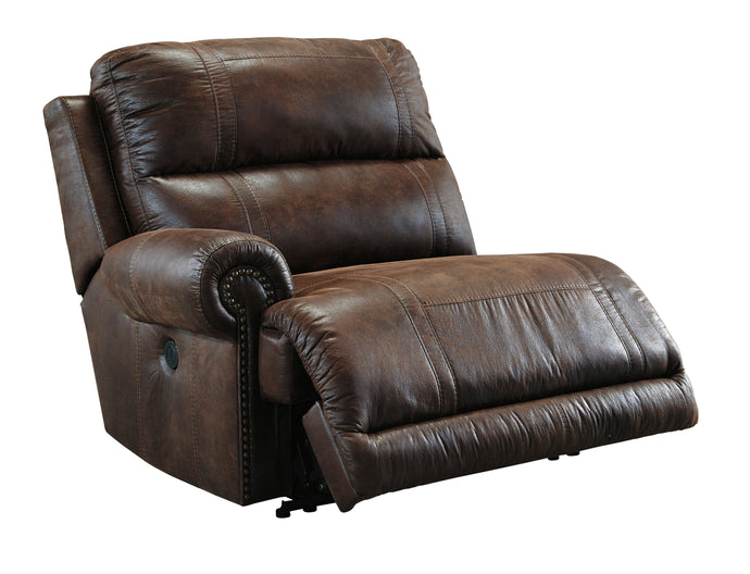 Ashley Luttrell Espresso Left Arm Facing Zero Wall Power Recliner