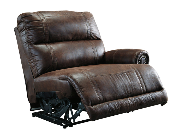 Ashley Luttrell Espresso Right Arm Facing Zero Wall Power Recliner