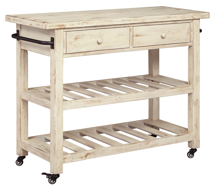 Signature Design By Ashley Marlijo White Kitchen Cart