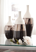 Load image into Gallery viewer, Dericia Casual Brown Cream Finish Vase Ashley Furniture