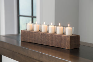 Cassandra Casual Brown Candle Holder