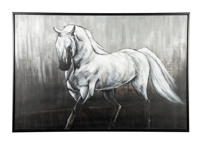 Victor Contemporary White Black Wall Art