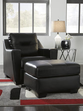 Load image into Gallery viewer, Signature Design Kensbridge Black Leather Chair And Ottoman