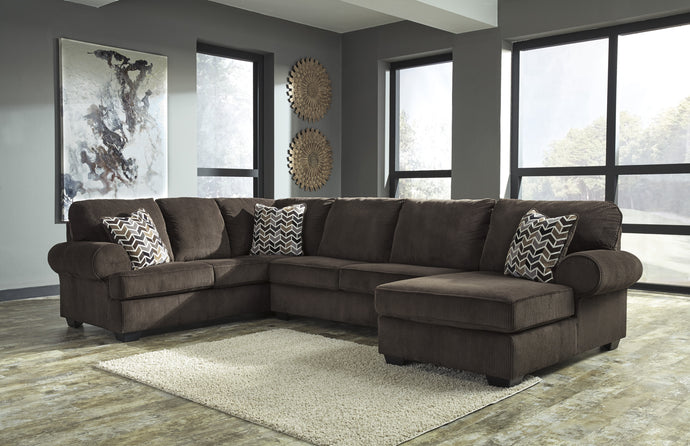 Signature Design Jinllingsly Chocolate Finish Sectional Sofa