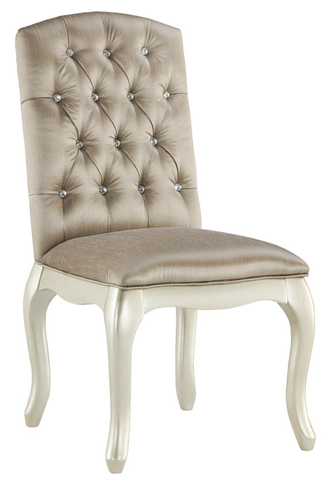 Cassimore Silver Upholstered Side Chair B750-01 Ashley Furniture