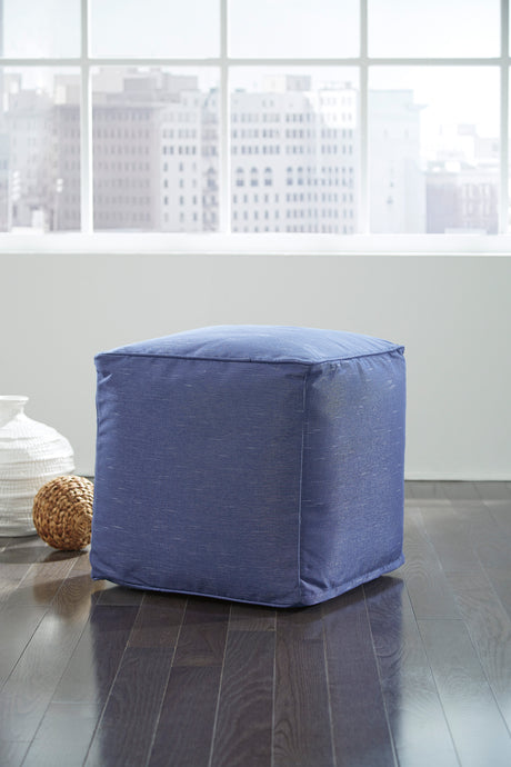 Signature Design By Ashley Catalina Blue Pouf