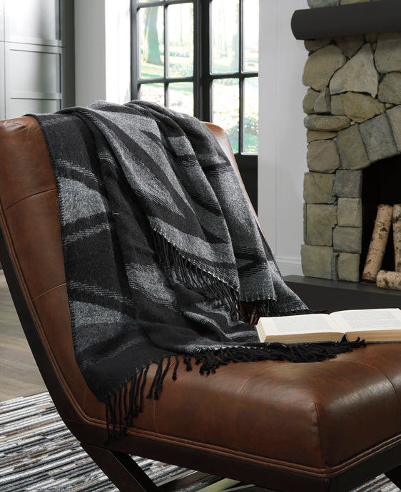 Signature Design By Ashley Cecile Black And Gray Throw Set Of 3