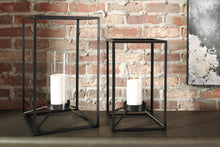 Load image into Gallery viewer, Signature Design By Ashley Dimtrois Black Lantern Set Of 2