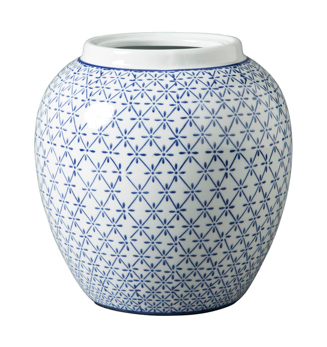 Signature Design By Ashley Dionyhsius Blue And White Vase