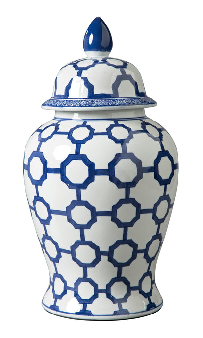 Signature Design By Ashley Dionyhsius Blue And White Jar