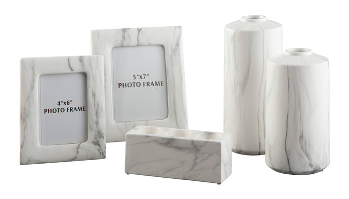 Signature Design By Ashley Diogo White Accessory Set Of 5