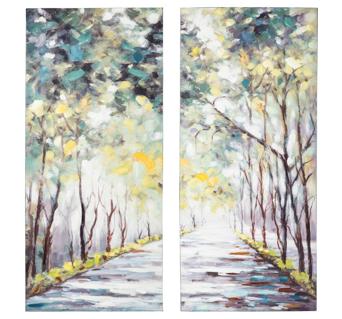 Signature Design By Ashley Donagh Green Wall Art Set Of 2
