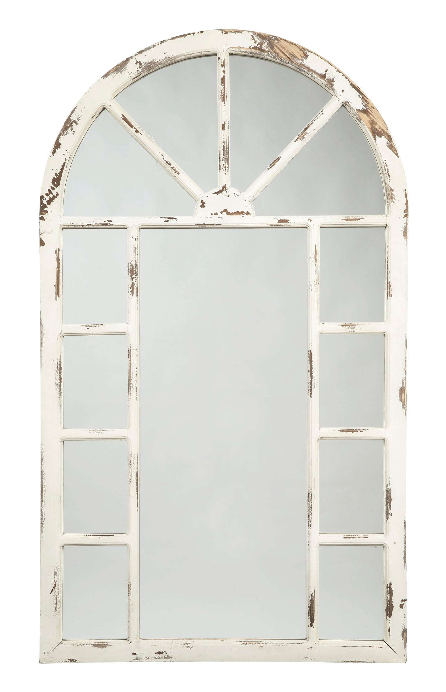 Signature Design By Ashley Divakar Antique White Accent Mirror