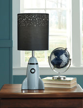 Load image into Gallery viewer, Signature Design By Ashley Cale Gray And Black Ceramic Table Lamp