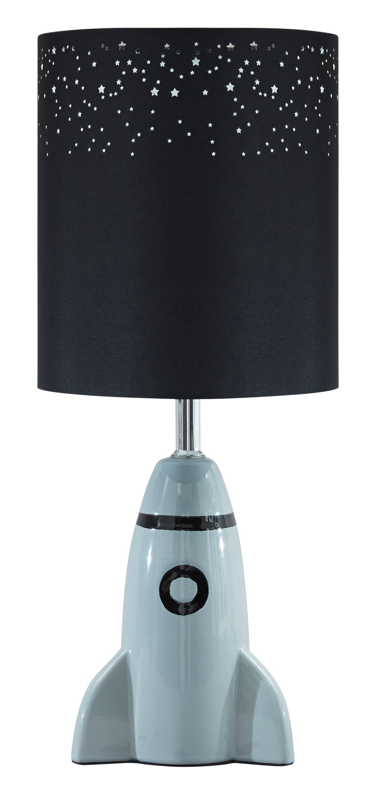 Signature Design By Ashley Cale Gray And Black Ceramic Table Lamp