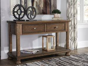 Signature Design By Ashley Flynter Medium Brown Sofa Table