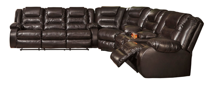 Signature Design By Ashley Vacherie Chocolate Sectional Sofa