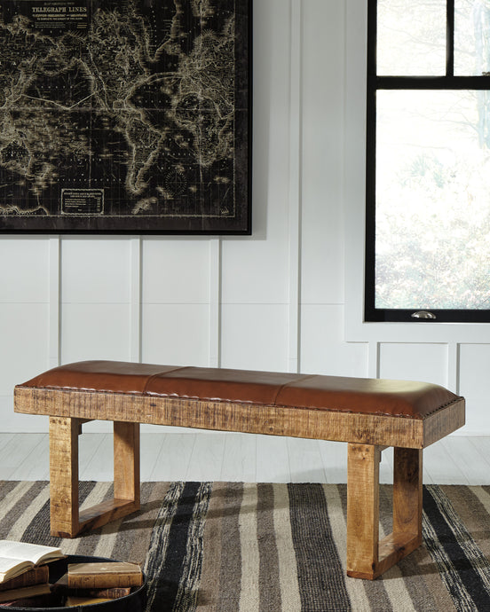 Signature Design A3000005 Eduardo Brown Wood Finish Accent Bench