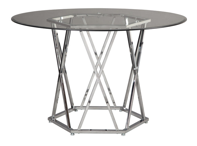 Signature Design D275-15 Madanere Chrome Finish Dining Table