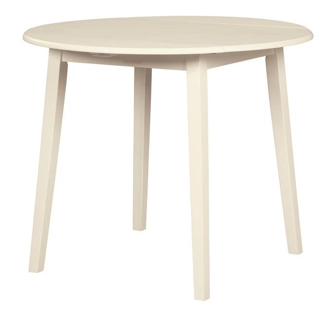 Signature Design D318-15 Slannery White Wood Finish Dining Table
