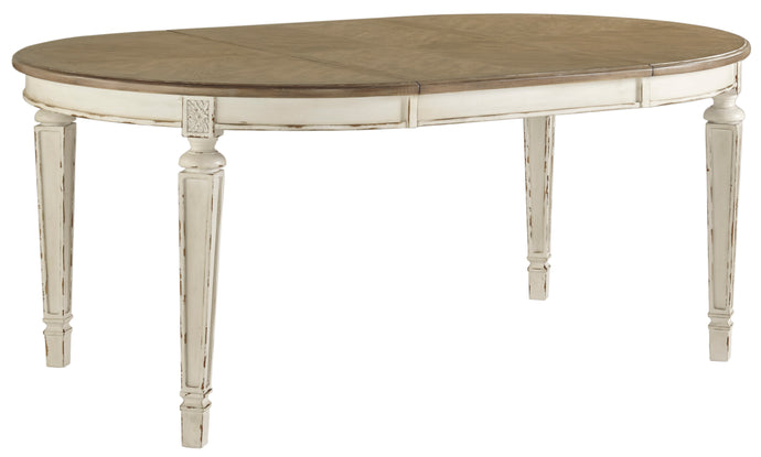 Signature Design D743-35 Realyn White Wood Finish Round Finish Dining Table