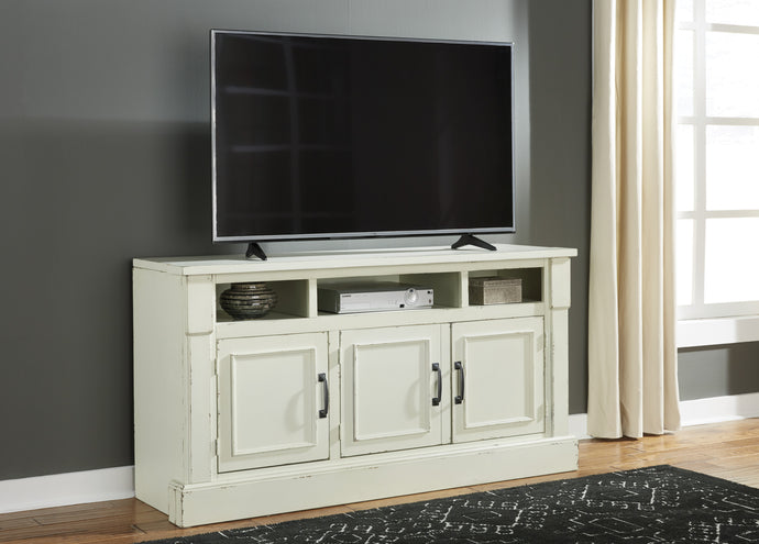 Signature Design W723-30 Blinton White Wood Finish TV Stand