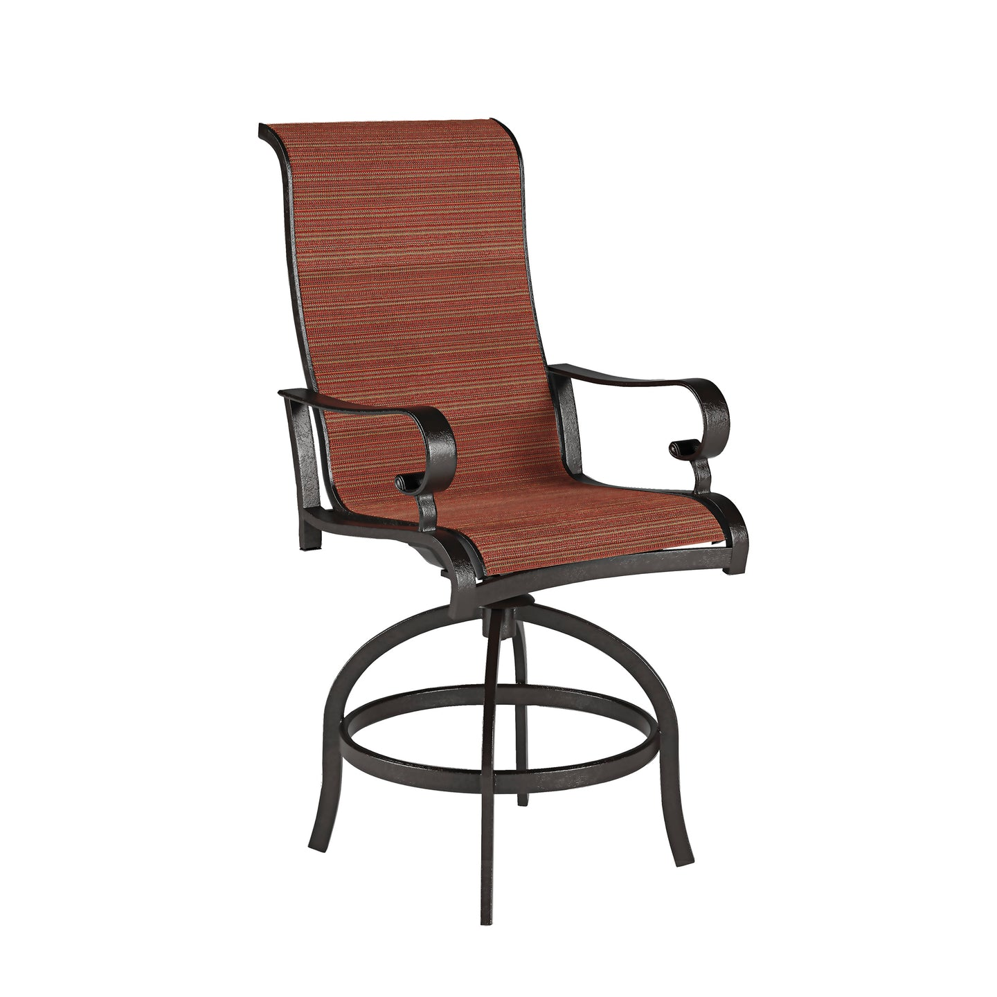 Signature Design P316-130 Apple Town Orange Metal Finish Outdoor Barstool