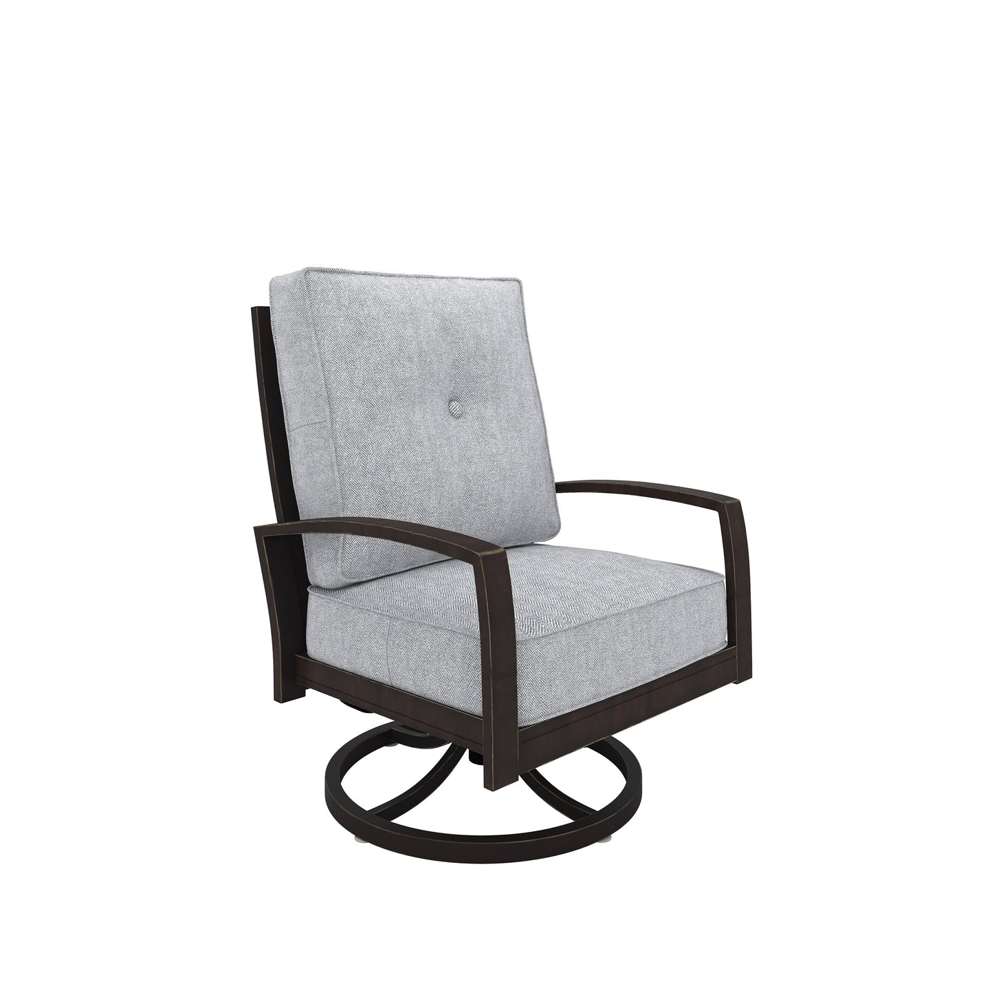 Signature Design P414-821 Castle Island Brown Gray Outdoor Dining Chair