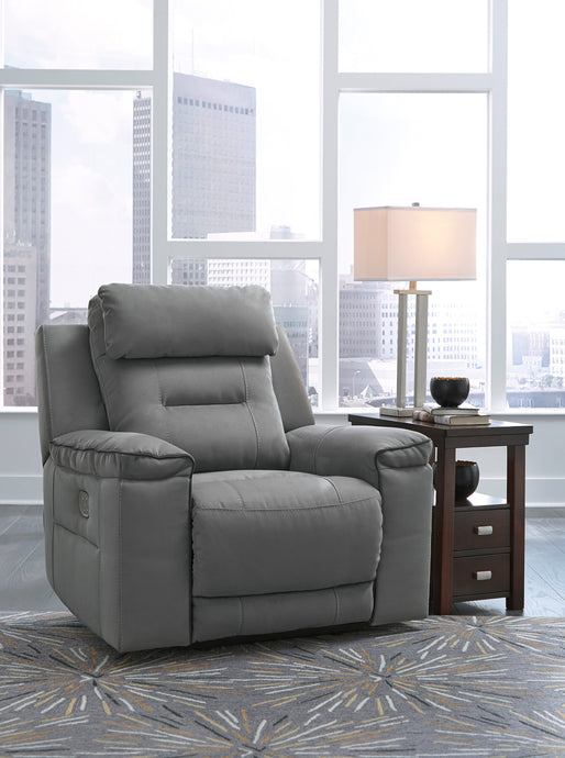 Signature Design 3130313 Trampton Gray Polyester Finish Recliner Chair