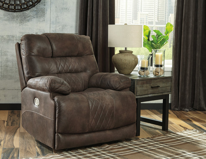 Signature Design 5430313 Welsford Walnut Leather Finish Recliner Chair