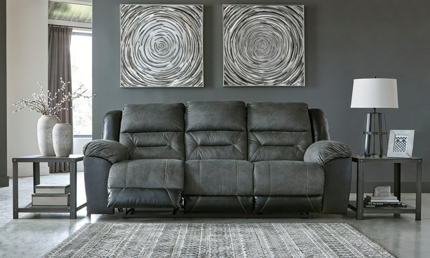 Signature Design 2910288 Earhart Gray Polyester Finish Sofa