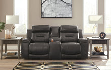 Load image into Gallery viewer, Signature Design U5010118 Pomellato Gray Leather Power Recliner Loveseat