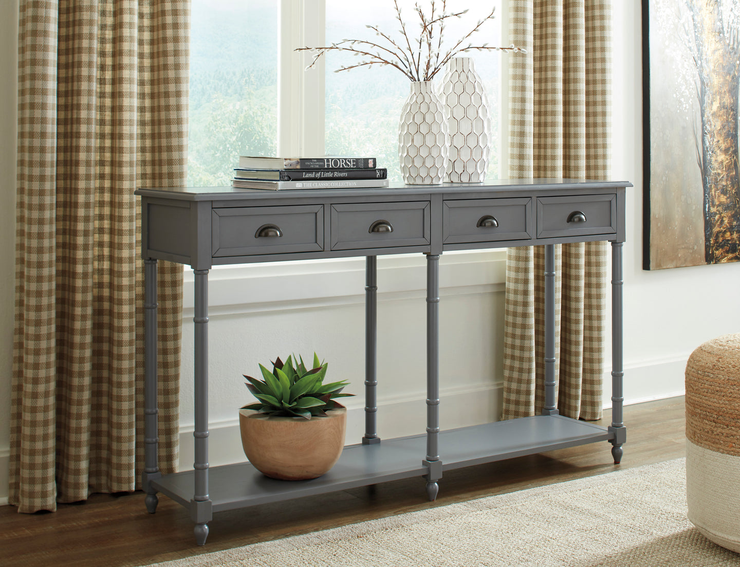 Signature Design A4000188 Eirdale Gray Wood Finish Console Table