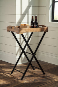 Signature Design A4000018 Cadocridge Black And Brown Wood Accent Table