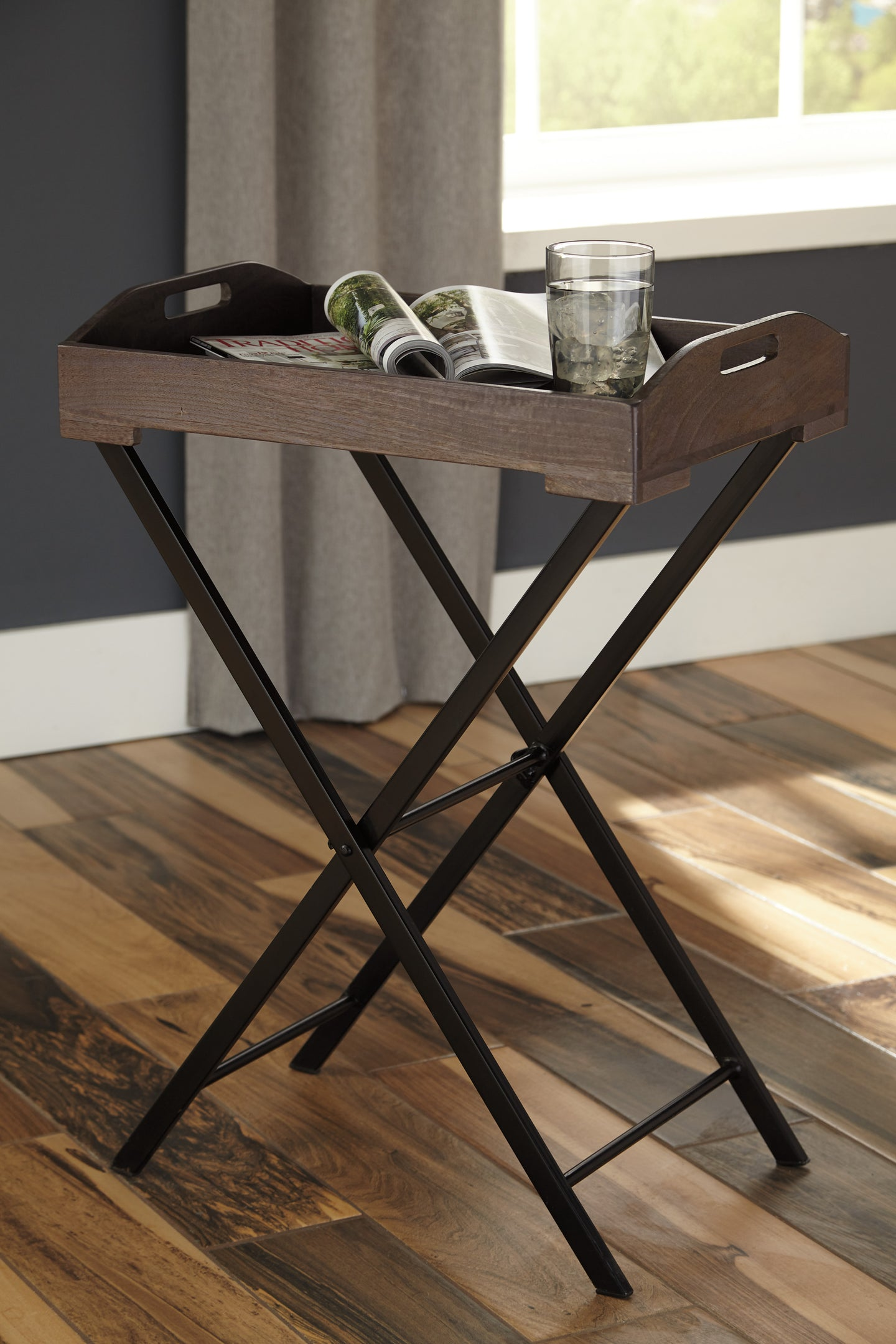 Signature Design A4000019 Cadocridge Black And Gray Wood Accent Table
