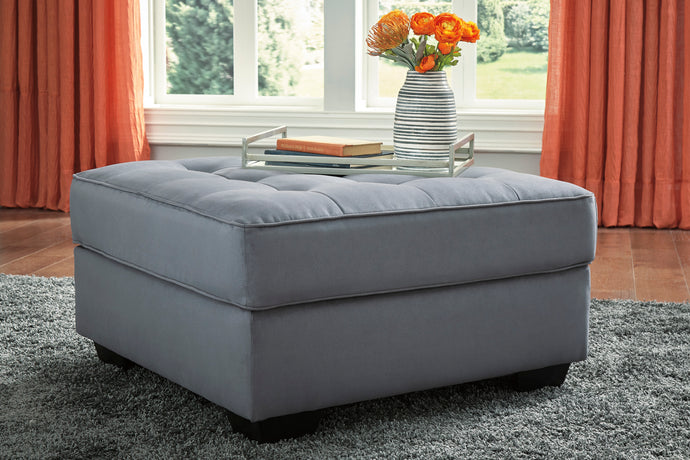 Signature Design Filone Gray Polyester Finish Oversize Ottoman