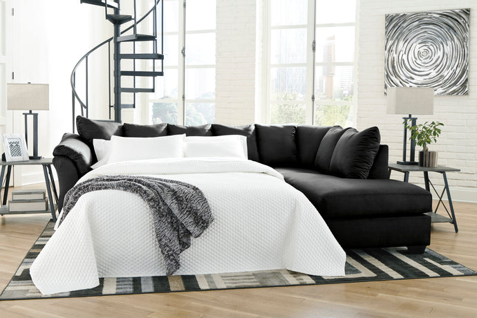 Signature Design Darcy Black Polyester Finish Left Arm Facing Sofa Bed