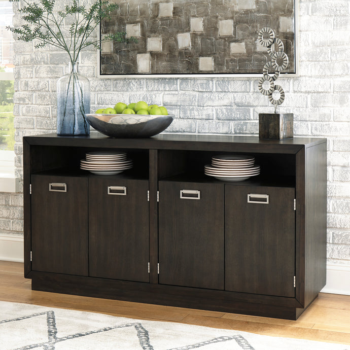 Signature Design Hyndell Brown Wood Finish Dining Server