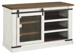 Signature Design Wystfield White And Brown Wood Finish Medium TV Stand