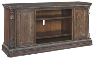 Signature Design Charmond Brown Wood Finish Extra Large TV Stand