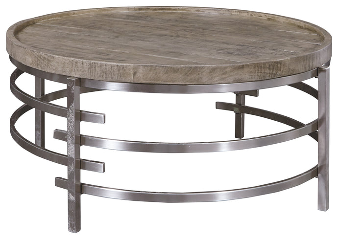 Signature Design Zinelli Natural Wood Finish Coffee Table