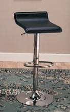 Load image into Gallery viewer, Coaster Adjustable Chrome Black Upholstered Bar Stool Set of 2